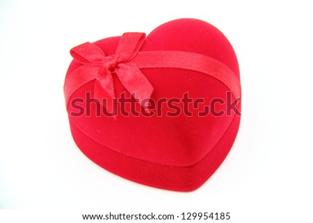Red velvet heart shaped box