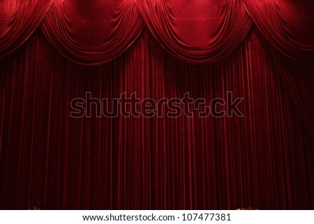 red velvet stage theater