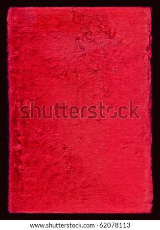 Red velvet texture with black frame - stock photo