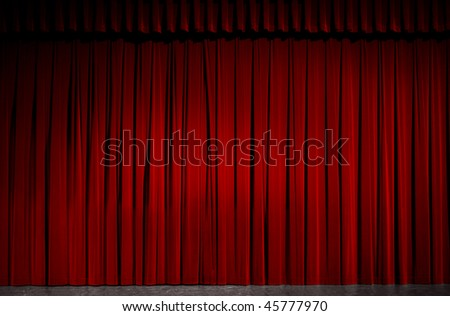 Red velvet theater curtain.