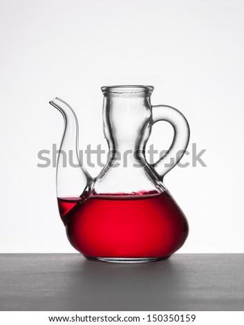 red vinegar - stock photo