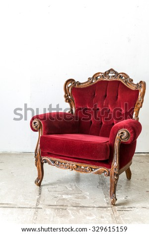 Red Vintage retro style Chair