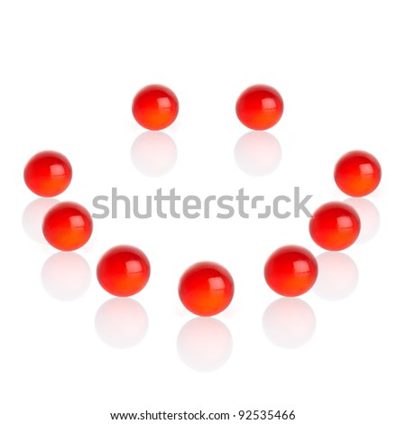 Red Vitamin Pills - stock photo