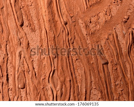 red volcanic rock - stock photo
