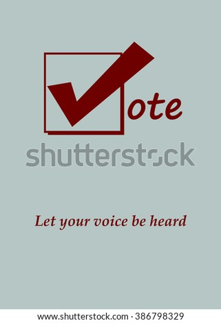 Red Vote Icon - Let Your Voice Be Heard - Simple Design - Illustration - stock photo