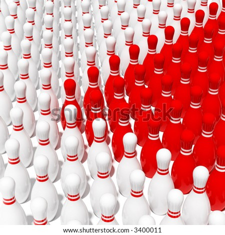 red vs white - stock photo