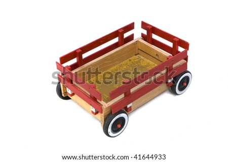 Red Wagon - stock photo