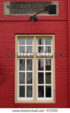 Red Wall and white window