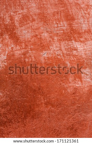 Red wall texture, background - stock photo