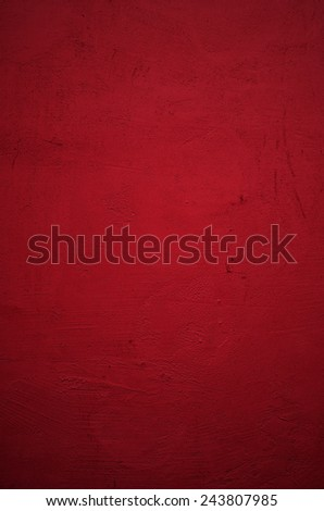 red wall with vignette  - stock photo