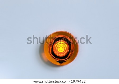 red warning light isolated - stock photo