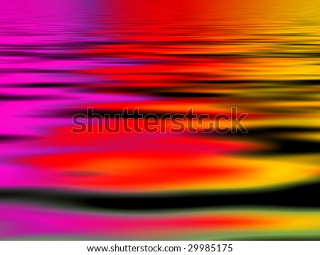 red water - stock photo