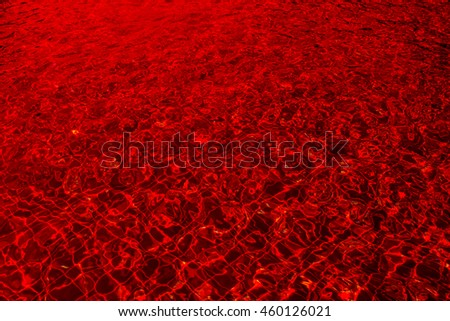 Red water abstract background