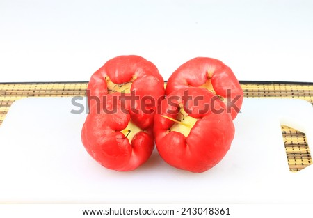 Red water apples isolated - stock photo
