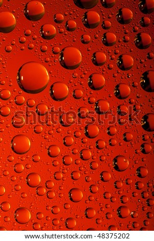 Red water texture. Water collection. - stock photo