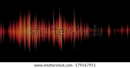 red waveform - stock photo