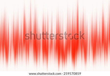red waveform pattern with copy space - stock photo