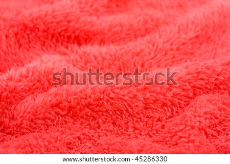 red wavy background texture in perspective microfiber towel - stock photo