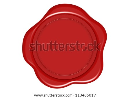 Red Wax Seal - stock photo