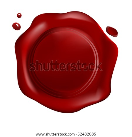Red wax seal with drops (jpg)