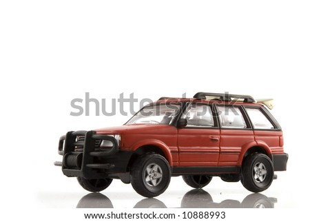 red 4wd car as suv