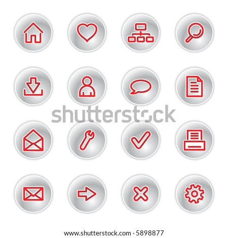 red web icons (raster)
