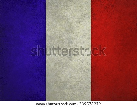 red white and blue background, Flag of France, French flag - stock photo
