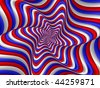 Red, white and blue spiral - stock photo