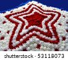Red, White and Blue Star Cake - stock photo