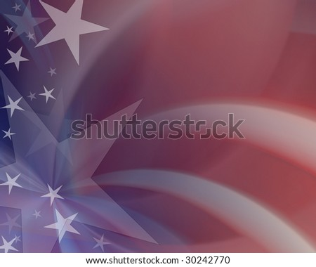 Red, white & blue abstract blur - stock photo