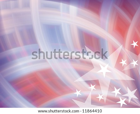 Red, white & blue with stars abstract background - stock photo