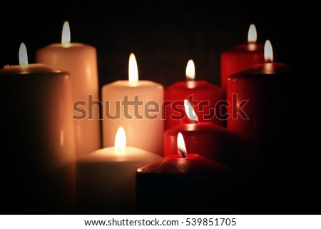 red white candle