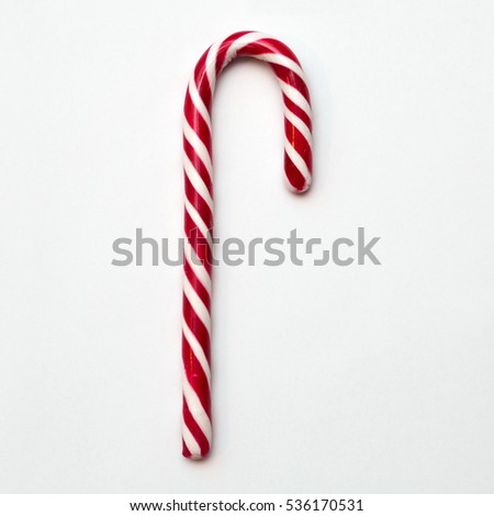 Red White Striped Candy Cane