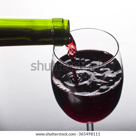 Red wine. - stock photo