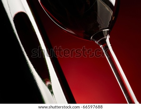 Red wine background - stock photo