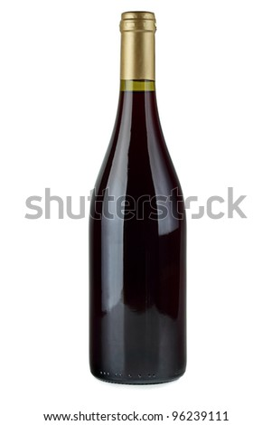 Red wine bottle. - stock photo