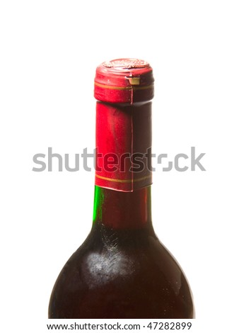 red wine Bottles - stock photo