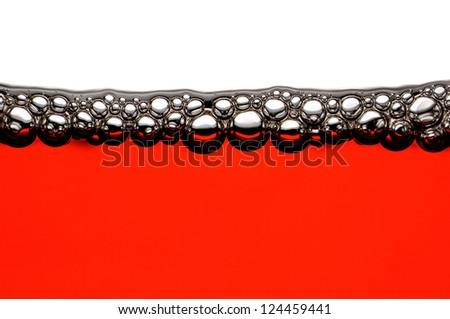 Red wine bubbles - stock photo