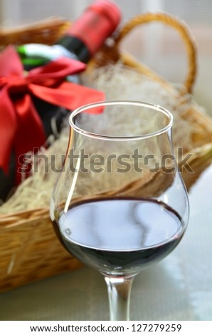 red wine for celebration - stock photo