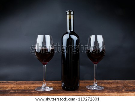 red wine for good health - stock photo