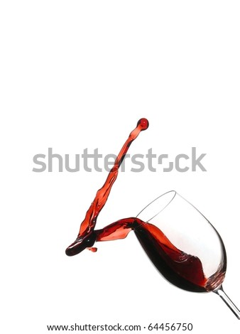 Red wine four - stock photo