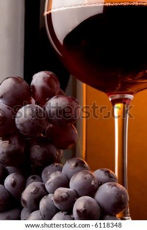 red wine glass bottle details grape
