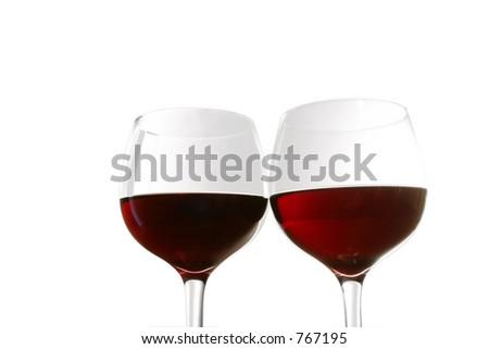 Red Wine Glasses - stock photo