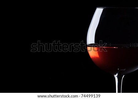 Red wine in a glass.