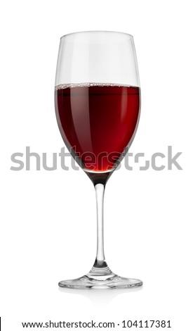 Red wine in glass.jpg - stock photo