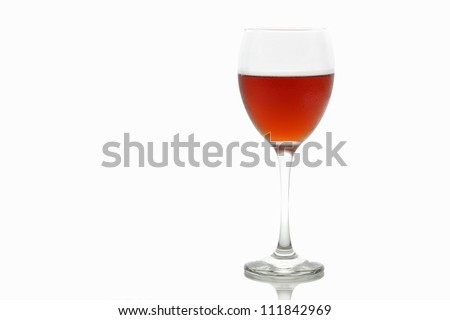 Red Wine Isolated