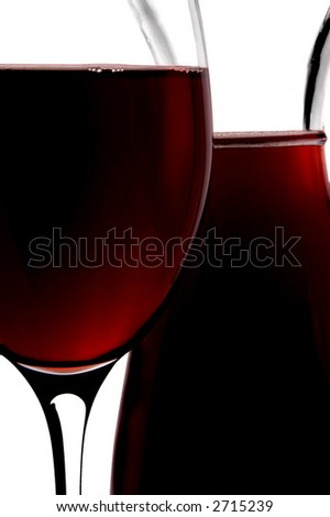red wine jug and glass