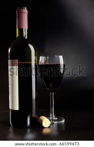 Red wine on a table - stock photo