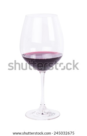 Red wine on a white background - stock photo