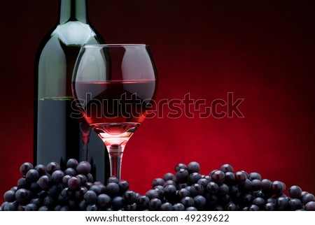 Red Wine on Red II - stock photo